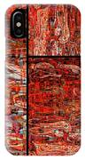 Red Splashes Swishes And Swirls - Abstract Art IPhone Case
