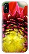 Red Sunrise Dahlia IPhone Case