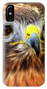 Red-tailed Hawk Portrait IPhone X Case