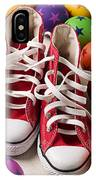 Red Tennis Shoes And Balls IPhone Case