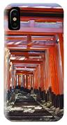 Red Torii Arches Over Steps At Inari IPhone Case