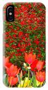 Red Tulip Flowers IPhone Case