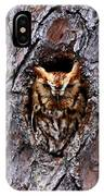Reddish Screech Owl IPhone Case