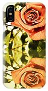 Reflection Of A Warm Rose IPhone Case