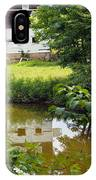 Reflection Of The Barn IPhone Case