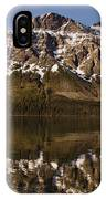 Reflections On Red Eagle Mountain IPhone Case