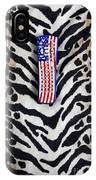Remote Control On Animal Print Background IPhone Case
