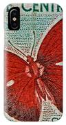Republique Centrafricaine Butterfly Stamp IPhone Case
