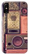 Retro Speakers IPhone Case