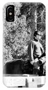 Riding Soldiers B And W II IPhone Case