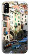 Riomaggiore's Harbor IPhone Case