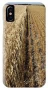 Ripened Wheat And Stubble In Saskatchewan Field IPhone Case