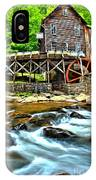 River Rock And A Grist Mill IPhone Case