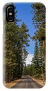 Road Through Lassen Forest IPhone Case