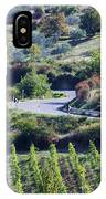 Road Winding Through Vineyard And Olive Trees IPhone Case