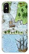 Roanoke Landing, 1585 IPhone Case