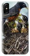 Robin And Babies In Nest IPhone Case