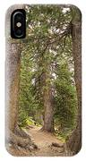 Rocky Mountain Forest Walk IPhone Case