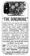 Rose Advertisement, 1890 IPhone Case