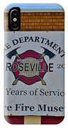 Roseville Fire Department Museum IPhone Case