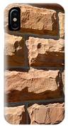 Rough Hewn Sandstone Brick Wall Of A Historic Building IPhone Case