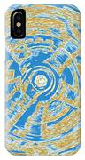 Round And Round Blue And Gold IPhone Case