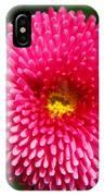 Round Pink Flower IPhone Case