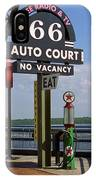 Route 66 - Chain Of Rocks Bridge And Gas Pump IPhone Case