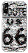 Route 66 Coke Ford Mustang Mosaic IPhone Case