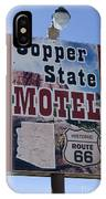 Route 66 Copper State Motel IPhone Case