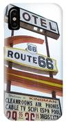 Route 66 Motel Sign 1 IPhone Case