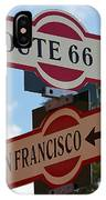 Route 66 Street Sign IPhone Case
