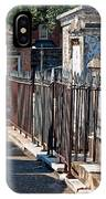 Row Of Tombs St Louis One Cemetery New Orleans IPhone Case