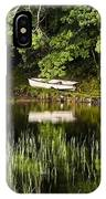 Rowboat Moored On The Bank Of A Lake IPhone Case