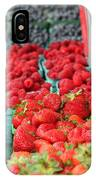 Rows Of Berries At Market IPhone Case