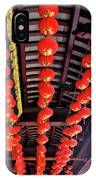 Rows Of Red Chinese Paper Lanterns - Shanghai China IPhone Case