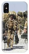 Royal Marines Haul Their Equipment IPhone Case