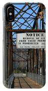 Rube Nelson Bridge 2 IPhone Case