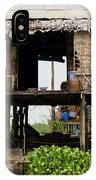 Rural Fishermen Houses In Cambodia IPhone Case