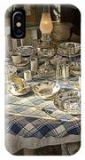 Rural Table Setting For Four No.3121 IPhone Case