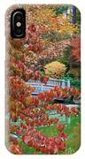 Rust Colored Leaves Over Autumn Pond IPhone Case