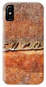Rusted Antique Chevrolet Logo IPhone Case