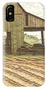 Rustic Barn And Field Rows IPhone Case