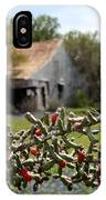Rustic Cactus Abandoned Barn IPhone Case