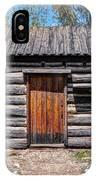 Rustic Pioneer Log Cabin - Salt Lake City IPhone Case