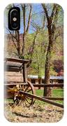 Rustic Wagon At Historic Lonely Dell Ranch - Arizona IPhone Case