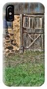 Rustic Wooden Door In Stone Barn IPhone Case