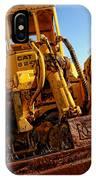 Rusty Gold Cat 824 IPhone Case