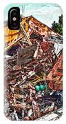 Rusty Metal Stuff Iv IPhone Case