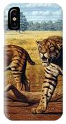 Sabre-toothed Cats, Artwork IPhone Case